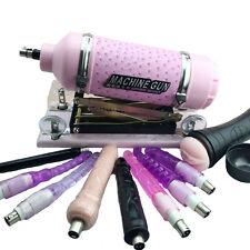Adult Men's Adjustable Speed Automatic Sex Love Machine Vibrator Gun+Attachments