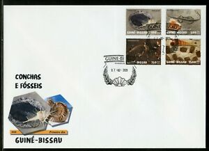 GUINEA BISSAU 2019 SHELLS & FOSSILS SET FIRST DAY COVER