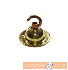 Brass Single Chandelier Ceiling Rose Hook Plate