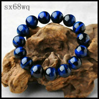 Neutral Blue Tiger Eye Bracelets Men Natural Stone Charm Beads Bracelets