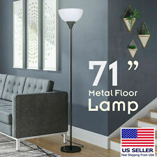 "71"" inch Floor Lamp Modern Light White Shade Standing Gold Base Home Decorative"