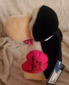 1982 Penguin stuffed animal Valentine's Day Penguin Lustre Opus plush vintage