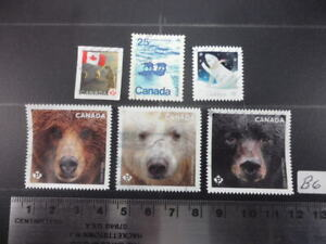 BEARS Stamps Canada Lot B6