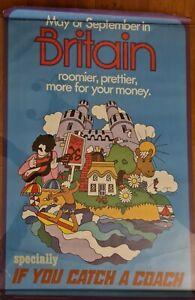 1970s Britain Holiday Poster ORIGINAL