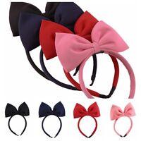 New Hair Accessories For Girls Women Headband Large Hair Bow Hair Bands Headwear