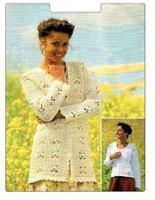 (35) Crochet Pattern for Ladies Crochet Cardigans, Long or Short