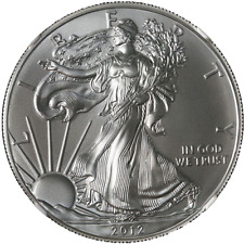 2012 Silver American Eagle $1 NGC MS70  Brown Label Scales Right - STOCK