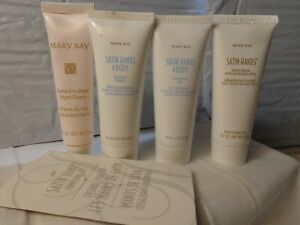 Mary Kay Satin Hands 4 Piece Pampering Set Rare Old Stock Original Formula