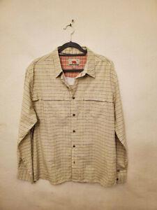 Dakota Grizzly Men XL Button Shirt Yellow Plaid Long Sleeve Excellent con. #205