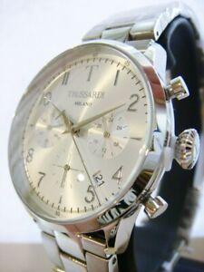 New TRUSSARDI T Evolution Chronograph Men's Watch Stainless Steel R2453123007