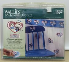 25 Wallies Raggedy Ann and Andy Wallpaper Cutouts Kids Wall Decor
