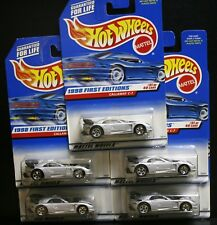 5 NEW  HOT WHEELS 1998 FIRST EDITIONS CALLAWAY C-7 677 GRAY SILVER 31/40