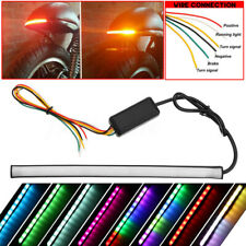 Motorcycle Flowing Switchback Sequential Tail Brake Turn Strip RGB DRL Lights 0