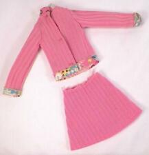 Kenner Dusty Doll Trendsetter Fashion Pink Knit Top & Skirt Vintage Circa 1974