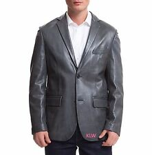 Leather Blazer Online New Celebs Awesome Lambskin Two Button For Men EHS M- 14