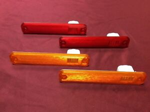 1973-1979 FORD F SERIES TRUCK & 78-79 BRONCO FRONT & REAR MARKER LIGHT LENS SET