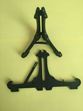 """10 x 4"""" Plastic Display Stands Plates/ Photos/ Craft Art /Easel Style Black"""
