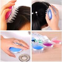 Silikon Shampoo Scalp Shower Body Washing Hair Massage Brush Kamm  ^