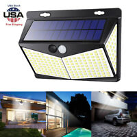 Solar Power Lamp 208-LED Outdoor Garden Yard PIR Motion Sensor Wall Light Bright