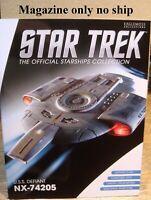 Eaglemoss Star Trek *Magazine only no ship* #9 USS Defiant NX-74205 No # on mag