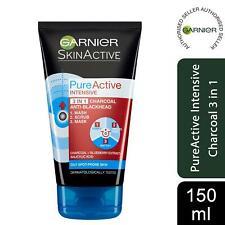 Garnier Pure Active Intensive 3in1 Charcoal Anti-Blackhead Mask Wash Scrub 150ml