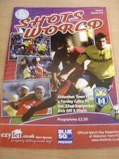 22/09/2007 Aldershot città V farsley CELTICO [ ultimo non-league Stagione ] (variazione TEAM