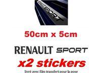 2 Autocollants/Stickers Bas de portes /seuil de portes RENAULT SPORT