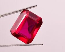 10.35 Cts 100% Natural Certified Mozambique blood red Ruby,Emerald Cut Gemstone