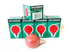 20x Sylvania Decor Color rot 15W E14 Glühlampe Lampe Glühbirne Birne 15 Watt Red