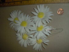 vintage White Daisy Cluster with Yellow PomPom center -Japan