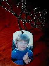 PERSONALISED Dog tag PHOTO NECKLACE with ball chain CUSTOM printed your design