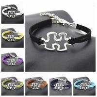 Fashion Charm Autism Infinity Love woven Bracelet jewelry gift 1pcs