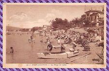 Tarjeta Postal - Juan-Les-PINS - La playa de arena