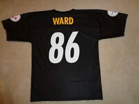 Men's NFL Pittsburgh Steelers Hines Ward #86 Black Football Jersey - Size L