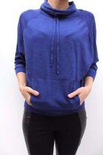 maglioni da donna blu misto lana