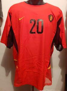 Vintage Belgium 2002 fifa World Cup match worn jersey #20 Strupar XL