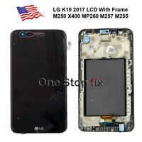 LG K10 2017 M250 X400 MP260 M257 M255 LCD Display Touch Screen Digitizer Frame