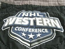 2 Pottery Barn NHL Hockey Quilted Shams Standard Pillow Western Conference Black