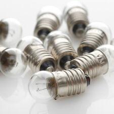 10 x 6V 0,6W 100mA 0,1A E10 Kugel 11x24 / Birne Lampe / Lamp / Skalenlampen
