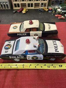 Vintage 1960s Tin Bandai Police Highway Patrol Buick Riviera Japan 2for1 LOOK