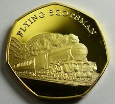 THE FLYING SCOTSMAN Collectable Medal/Token, 24ct Gold. Iconic Steam Engines