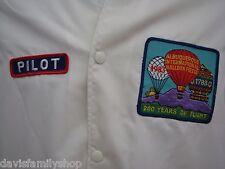 1983 Albuquerque Hot Air Balloon Pilot Jacket Coat Size L Large 200 Years