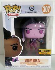 Funko Pop! Games:Overwatch #307 Sombra Translucent Hot Topic Exclusive Vinyl NIB