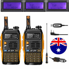2X Baofeng GT-3 TP MKIII Dual Band 1/4/8W Ham Two Way Radio+ 1x USB Cable Kit