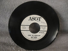 Billy Bishop, Cancel The Reservation / If And When, Ascot AS 2116, PROMO, 45 RPM