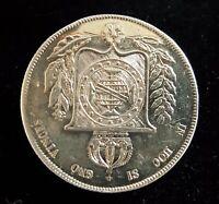 Silver vintage Victorian antique coin brooch