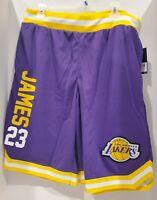 Lebron James Los Angeles Lakers Basketball Shorts Men's Size 2X-Large Purple NWT