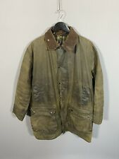 BARBOUR BORDER WAX Jacket - C42/107CM - Green - Great Condition - Mens
