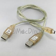 Cable USB Y 2x USB male A - 1x USB Mini male
