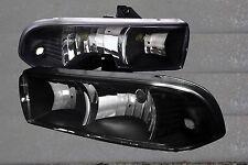 98-04 Chevy S-10 98-04 Blazer Euro Clear Black Housing Headlights Upgrade